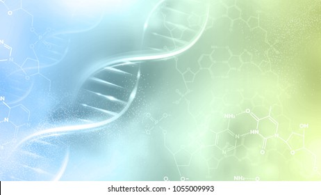 DNA strand with abstract background