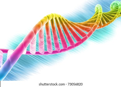 DNA strand modern design, bright and colorful