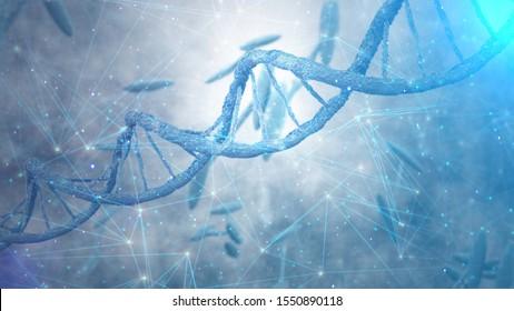 DNA Strands background. DNA structure