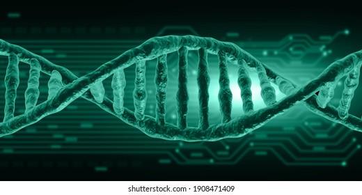 DNA structure scientific background. 3d illustration