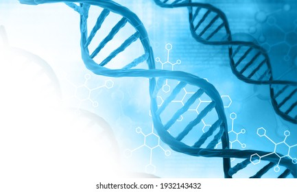 DNA structure scientific background. 3d illustration