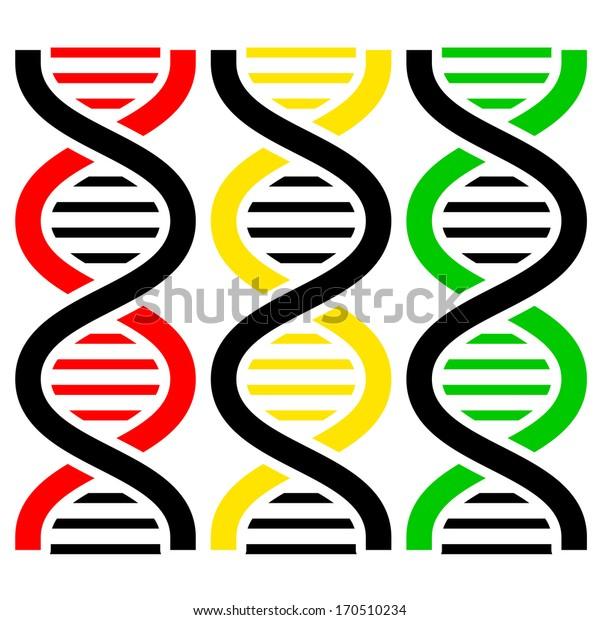 DNA Symbols .  illustration.