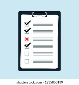 To do list or planning concept flat icon logo. Check list for business, schedule with note