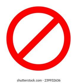Do not enter sign on white background