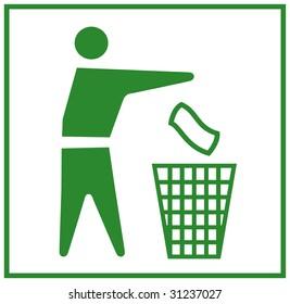 Do not litter green logo