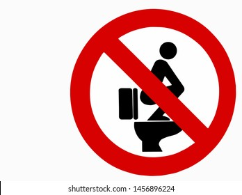 Do not step on the toilet seat,Toilet seat safety sign