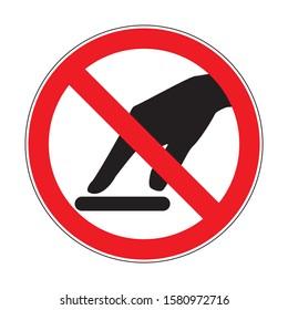 No tocar ilustración de símbolo