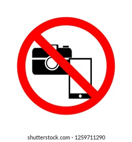 Do not use the camera or mobile phone to take pictures