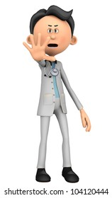 doctor cartoon hey stop there