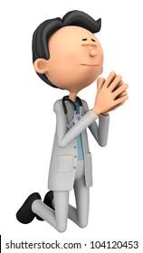 doctor cartoon praying