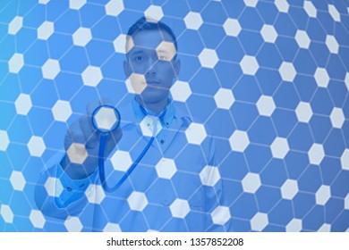 Doctor digital background concept