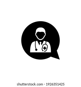 Doctor icon isolated on white background