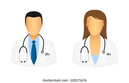 Doctor icons. Vector available.