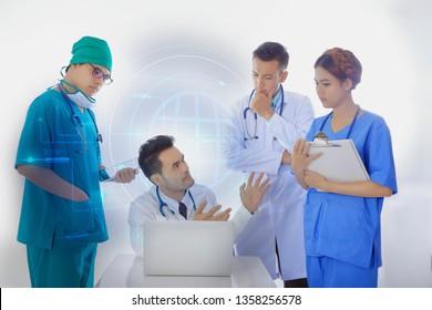 Doctor meeting teamwork concept