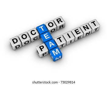Doctor and Patient Team cubes crossword