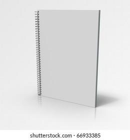 Document binder on gray gradient background