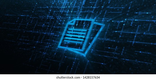 Document Management Data System Business Technology Concept