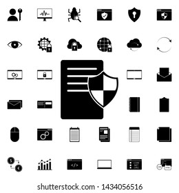 document protection icon. Universal set of web for website design and development, app development