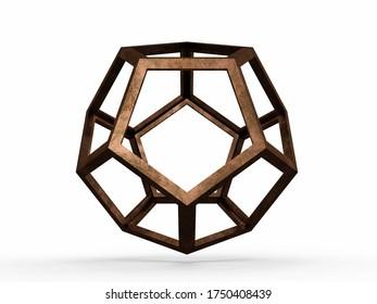 Dodecaedron, Leonardo da Vinci. 3D model