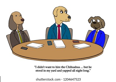 A dog board of directors has hired a Chihuahua