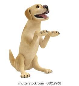 dog cartoon begging
