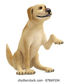 dog cartoon shake hands