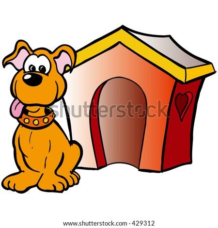 dog front house stock illustration 429312 shutterstock
