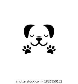 Dog head icon isolated on white background