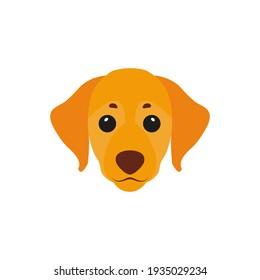 Dog. Icon. Simple style.  illustration isolated on white background.