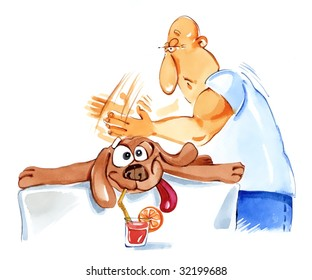 dog at massage