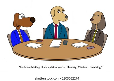 Dog partner thinks of vision words