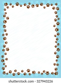 1222 Paw Print Paw Print Border Images Royalty Free Stock Photos