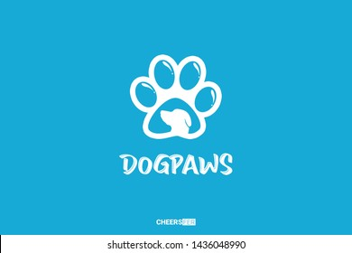 Dog & Paws Logo For Your Content