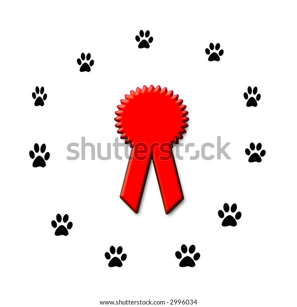 dog show competition award winners  red  ribbon