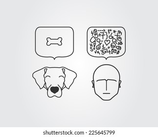 Dog versus human thoughts in brains