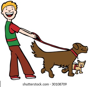 Dog Walker Art