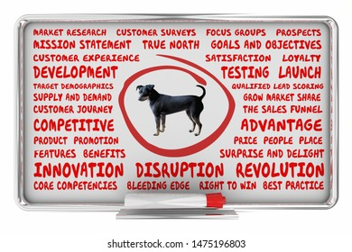 Dogs Pets Animals Business Model Company 3d Illustration