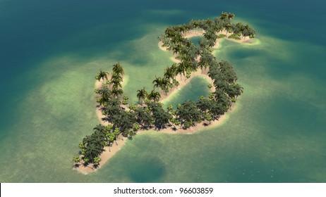 dollar shaped island