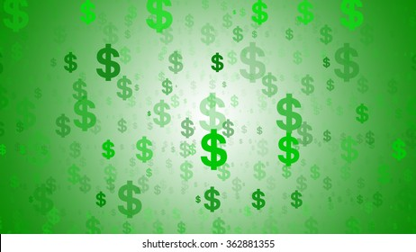 A dollars symbol abstract background