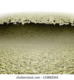 Dollars wave. Money tsunami