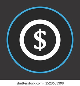Dollor Coin Icon For Your Design,websites and projects.