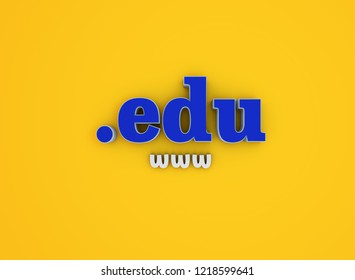 Domain name .edu - Domain name and internet concept - 3d illustration Internet domain. 3D render