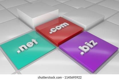 Domain TLD net com biz highlight