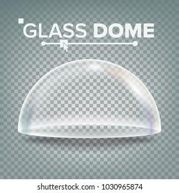 Dome. Advertising, Presentation Glass Design Element. Template Mockup. Realistic Illustration