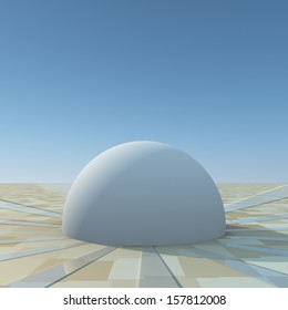 A dome under clear sky