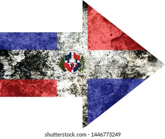 Dominican republic Country flag arrow to the left