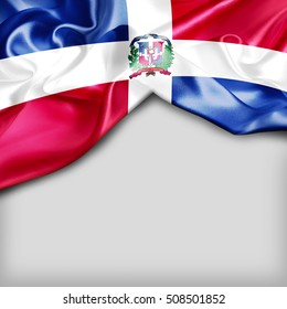 Dominican Republic Country Flag on white background