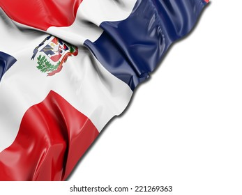 Dominican Republic Flag with white