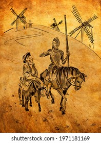 Don Quixote de la Mancha  is a middle-aged gentleman from the region of La Mancha in central Spain. Spanish novel by Miguel de Cervantes.