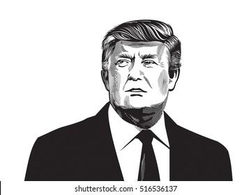 Donald Tramp illustration. Editorial